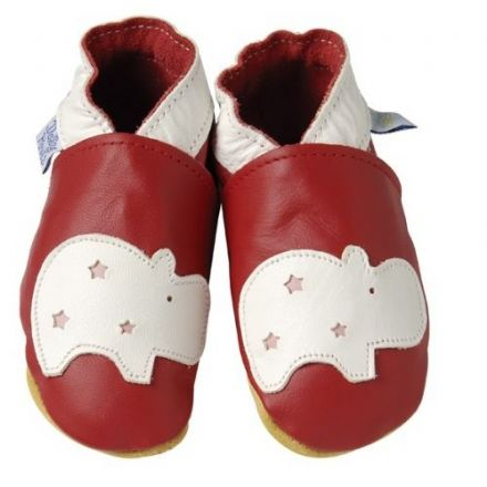 Red Hippo Shoes, 6 to 12 Months